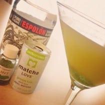 Matcha Mint Tequila Martini