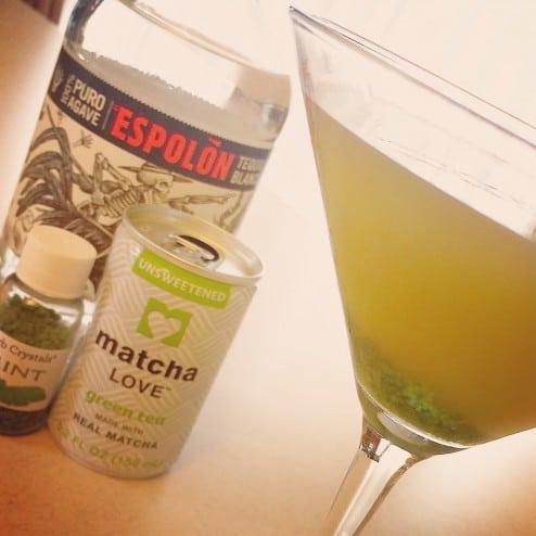 Matcha Mint Tequilla Martini