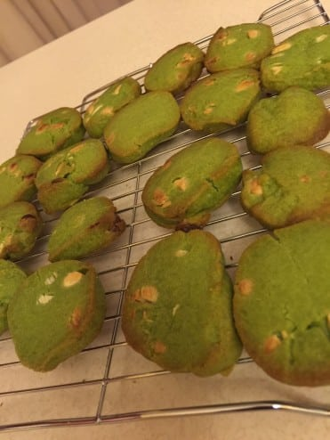 Matcha Cookies Finished