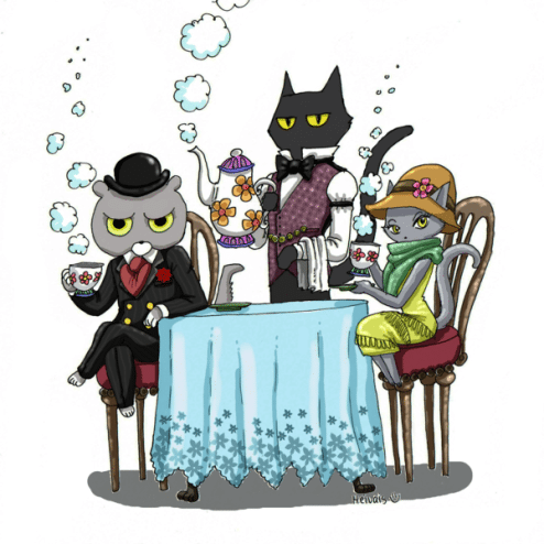 Detective Cats by Heivais on DeviantArt