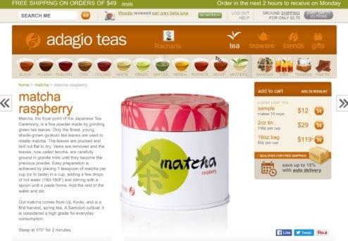 Raspberry Matcha Adagio
