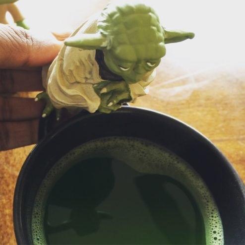 Yoda over matcha