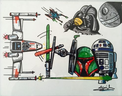 Star Wars Drawning by Jason Wilson