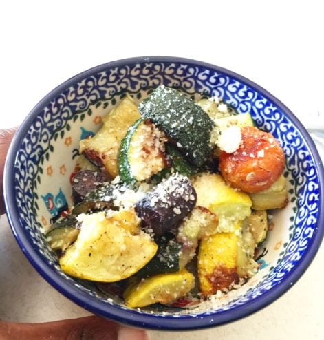 Tea Lapasang and Veggies
