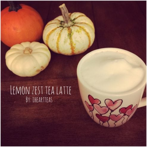 Lemon Zest Tea Latte